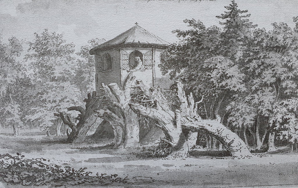 illustration of a hermitage